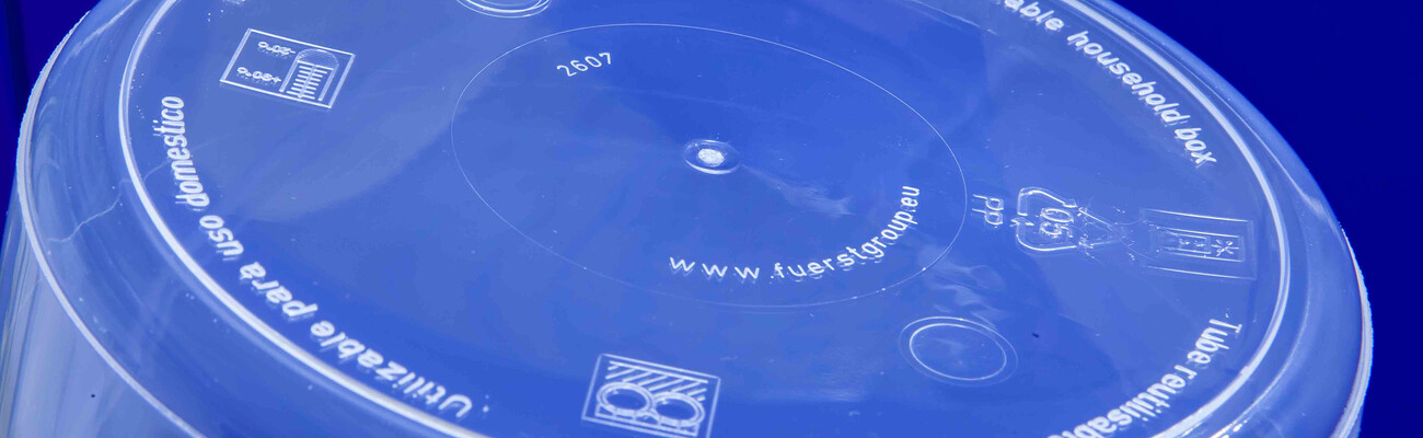 Bottom of a plastic container produced by Fürst GmbH